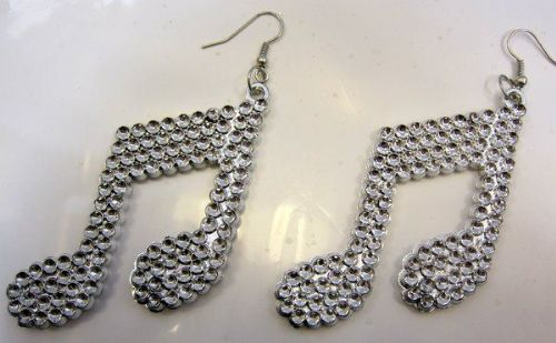 Party Fun Earrings Pair of Music Notes